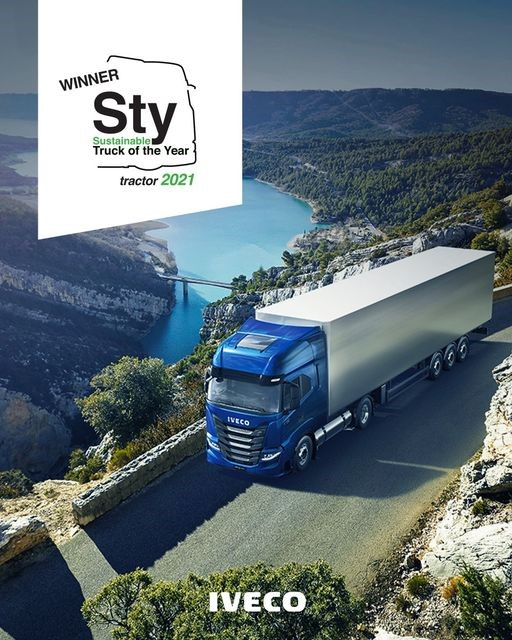 IVECO S-Way NP 460 LNG is uitgeroepen tot Sustainable Truck of the Year 2021